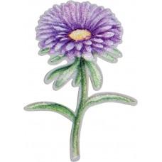 Термоаппликация Фиолетовый цветок