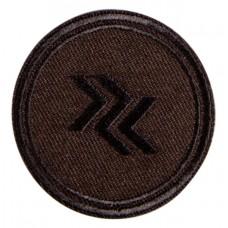 Термоаппликация Круг (темно - коричневый)