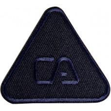Термоаппликация Треугольник (темно - синий)