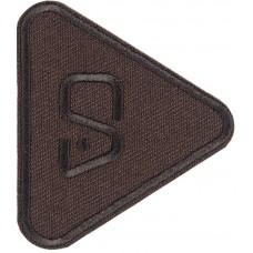 Термоаппликация Треугольник (темно - коричневый)