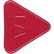 Термоаппликация Треугольник (красный)