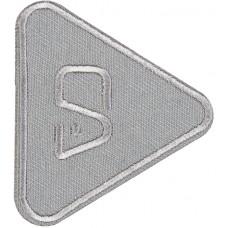 Термоаппликация Треугольник (темно - серый)