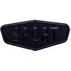 Термоаппликация Спорт (темно - синий)