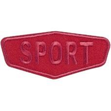 Термоаппликация Спорт (красный)