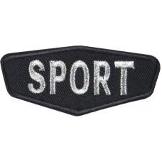 Термоаппликация Спорт (черный)