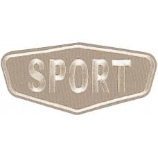 Термоаппликация Спорт (бежевый)