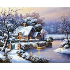 Картина стразами Уютный домик