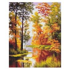 Картина стразами Золотая осень