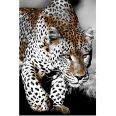 Картина стразами Пронзительный взгляд леопарда
