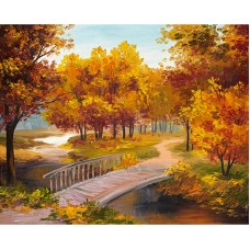 Картина стразами Осенний мост