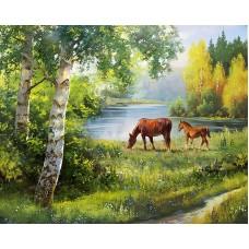 Картина стразами Русское поле