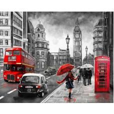 Картина стразами Улица Лондона