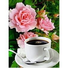 Картина стразами Утренний кофе