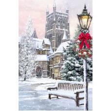 Картина стразами Рождественский Париж