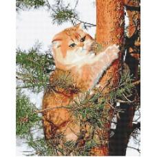 Картина стразами Кот на дереве