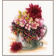 Набор для вышивания Pink blush bouquet