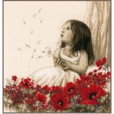 Набор для вышивания Девочка на маковом поле