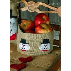 Набор для вышивания мешочка Снеговики