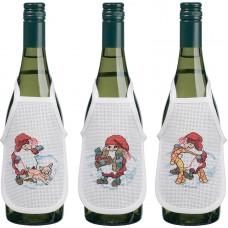 Набор для вышивания фартучков на бутылку Коллекция гномов