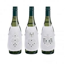 Набор для вышивания фартучков на бутылку в технике харгандер Белые сердечки