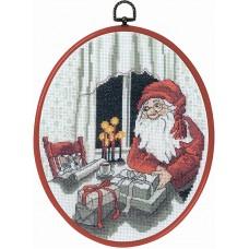 Набор для вышивания Санта и кот