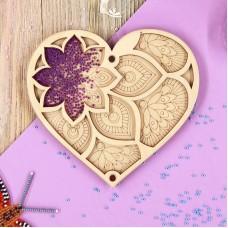 Органайзер для бисера с крышкой «Сердце»