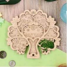 Органайзер для бисера с крышкой «Дерево счастья»