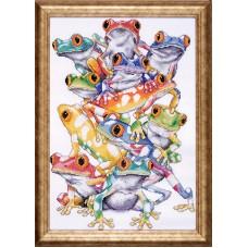 Набор для вышивания Кучка лягушек