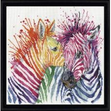 Набор для вышивания Яркие зебры