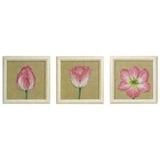 Набор для вышивания Тюльпаны, 3 сюжета