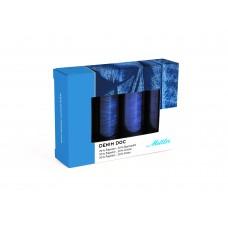 Набор с нитками для джинс DENIM DOC 75, 100 м  в подарочной упаковке, 4 катушки