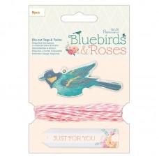 Шнур декоративный Птицы и розы
