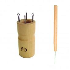 Куколка  для вязания шнура на 4 крючка, круглая