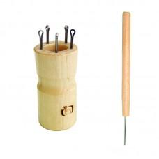 Куколка  для вязания шнура на 5 крючков, круглая