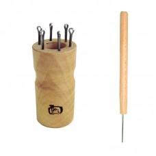 Куколка  для вязания шнура на 6 крючков, круглая