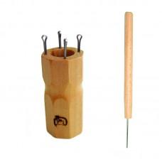 Куколка  для вязания шнура на 4 крючка, ромбовидная
