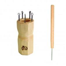 Куколка  для вязания шнура на 5 крючков, ромбовидная