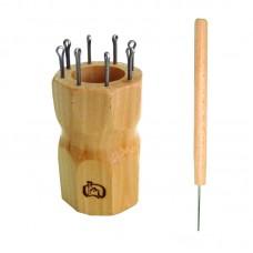 Куколка  для вязания шнура на 8 крючков, ромбовидная