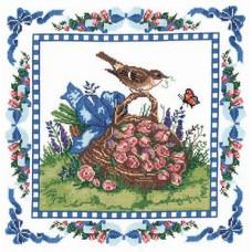 CX Набор для вышивания, подушка Весенний дрозд