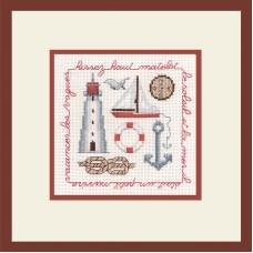 Набор для вышивания: HISSEZ HAUT ROUGE (Парус по ветру (красный)