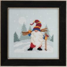 Набор для вышивания бисером Гном - лыжник