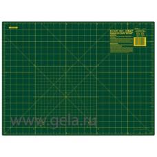 Мат раскройный двусторонний, толщина 1,6 мм, зеленый, 45 х 60 см/ 24 х 18