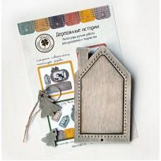 Рамка для вышивки Домик с елочками