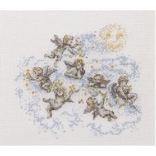 Набор для вышивания Маленькие ангелы, канва Aida 14 ct