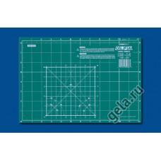 Мат раскройный двусторонний, толщина 2 мм, 30 х 21 см/ 12 x 8