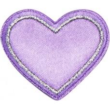 Термоаппликация Сердце с белым швом
