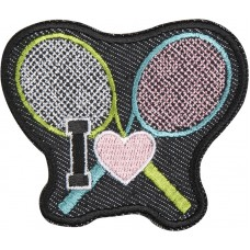 Термоаппликация Я люблю теннис
