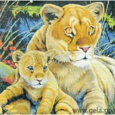 Набор для вышивания Львица с детенышем