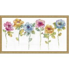 Набор для вышивания Акварельный цветочный ряд