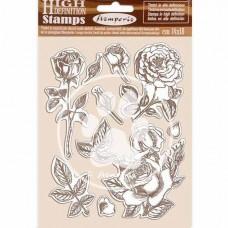 Штамп на резиновой основе HD Страсть - роза